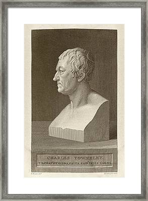 Charles Townley Framed Print by Middle Temple Library