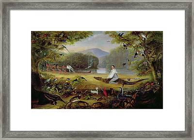Charles Waterton Capturing A Cayman, 1825-26 Framed Print by Captain Edward Jones
