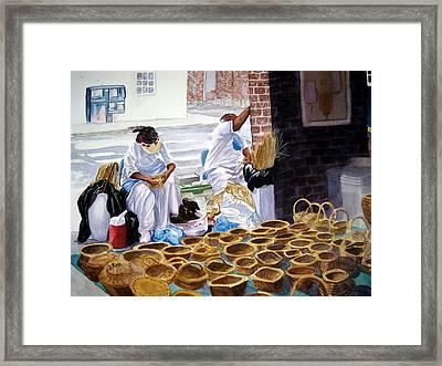 Charleston Basket Weavers Framed Print by Julia Rietz