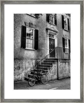 Charleston Charm Bw Framed Print by Mel Steinhauer