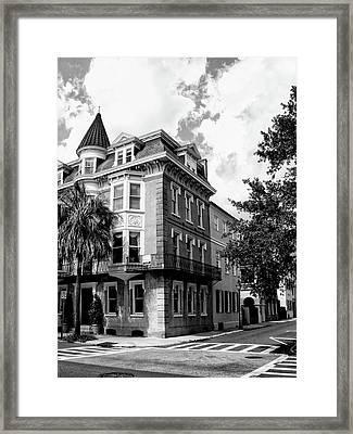 Charleston Corner Charleston Sc Framed Print by William Dey