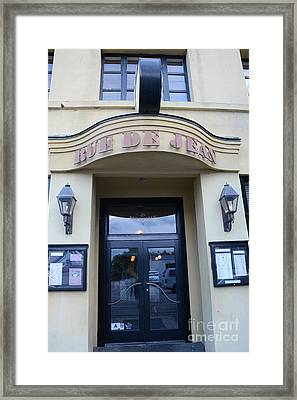 Charleston French Restaurant - Rue De Jean - American French Bistro And Cafe  Framed Print by Kathy Fornal