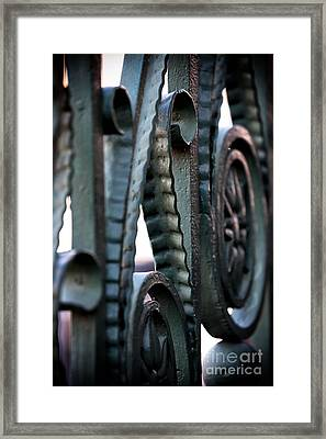 Charleston Iron Framed Print by John Rizzuto