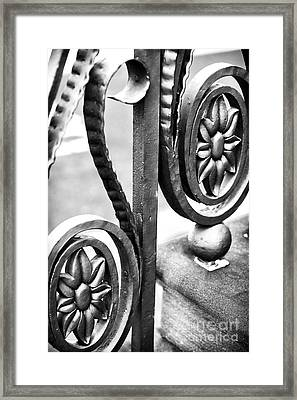 Charleston Iron Works II Framed Print by John Rizzuto