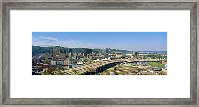 Charleston Skyline, State Capitol, West Framed Print by Panoramic Images