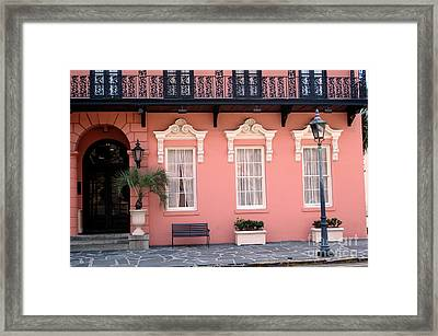 Charleston South Carolina - The Mills House - Art Deco Architecture Framed Print by Kathy Fornal