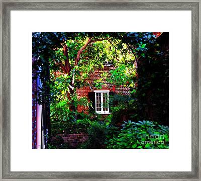 Charleston's Charm And Hidden Gems  Framed Print by Susanne Van Hulst