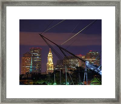 Charlestown Navy Yard And The Custom House Framed Print by Joann Vitali