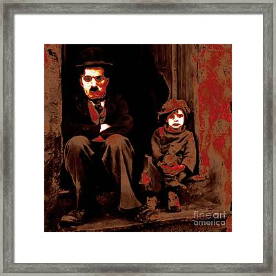 Charlie Chaplin 20130212-2-square Framed Print by Wingsdomain Art and Photography