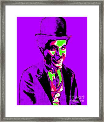 Charlie Chaplin 20130212m78 Framed Print by Wingsdomain Art and Photography