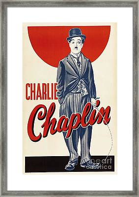 Charlie  Chaplin Framed Print by Pg Reproductions