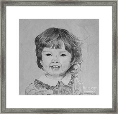 Charlotte B/w Framed Print by Martin Howard