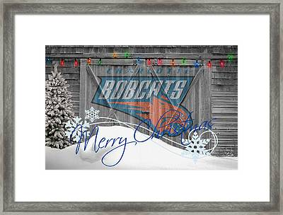 Charlotte Bobcats Framed Print by Joe Hamilton