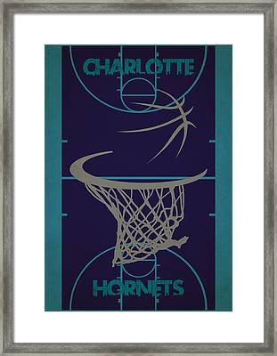Charlotte Hornets Court Framed Print by Joe Hamilton