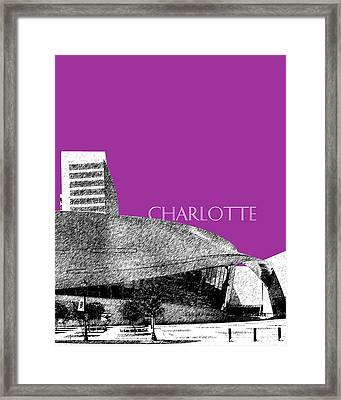 Charlotte Nascar Hall Of Fame - Plum North Carolina Framed Print by DB Artist