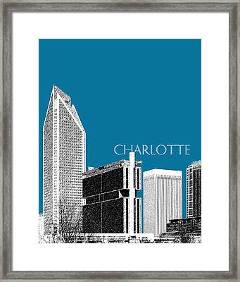 Charlotte Skyline 1 - Steel Framed Print by DB Artist