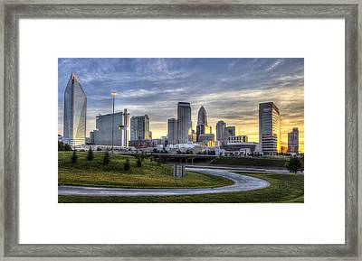 Charlotte Sunrise Framed Print by Chris Austin