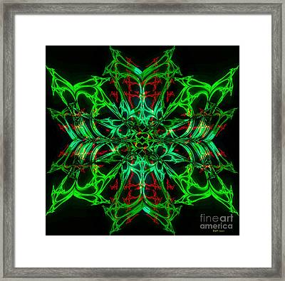 Charlotte's New Freakin' Awesome Neon Web Framed Print by Elizabeth McTaggart