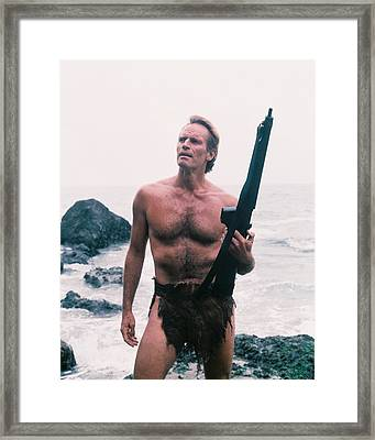 Charlton Heston Rifle Framed Print by Silver Screen