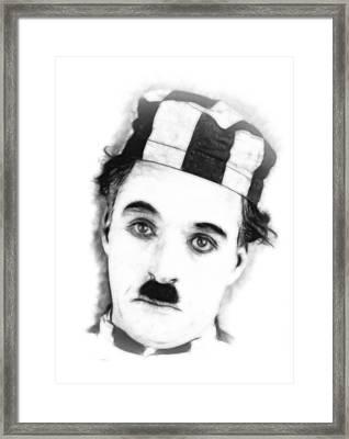 Charly Chaplin Framed Print by Stefan Kuhn