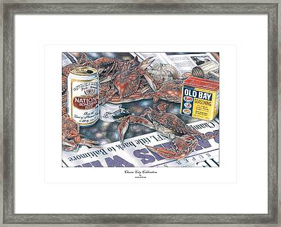 Charm City Celebration Framed Print by Jonathan W Brown