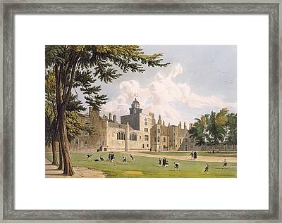 Charter House From The Play Ground Framed Print by William Westall