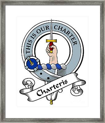 Charteris Clan Badge Framed Print by Heraldry