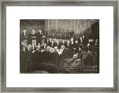 Chartists Treason Trial, 19th Century Framed Print by Middle Temple Library