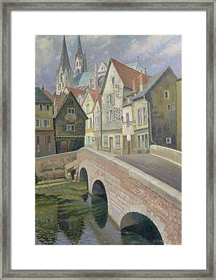 Chartres Framed Print by Osmund Caine
