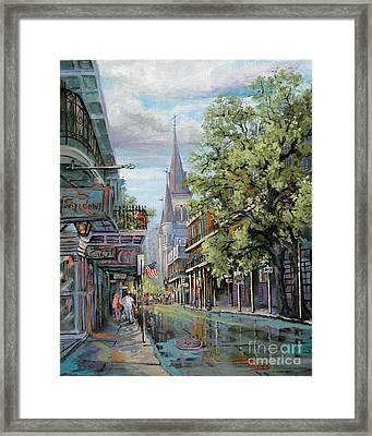 Chartres Rain Framed Print by Dianne Parks