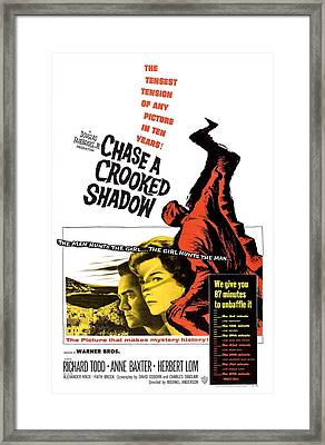 Chase A Crooked Shadow, Us Poster Framed Print by Everett
