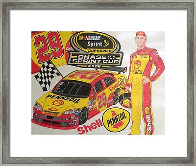 Chase For The Cup 2008 Framed Print by Rodney Sterling