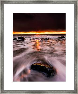 Chasing The Sunset Framed Print by Alexis Birkill
