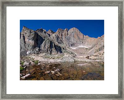 Chasm Lake Framed Print by Aaron Spong