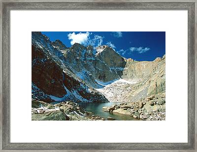 Chasm Lake Framed Print by Eric Glaser