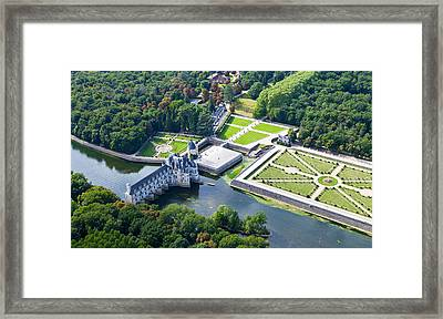 Chateau De Chenonceau And Its Gardens Framed Print by Mick Flynn