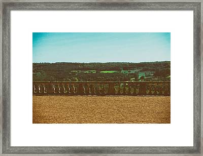 Chateau De Hautefort Balustrade  Framed Print by Mountain Dreams