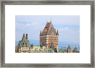 Chateau Frontenac Quebec City Canada Framed Print by Edward Fielding