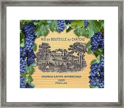 Chateau Lafite Rothschild  Framed Print by Jon Neidert