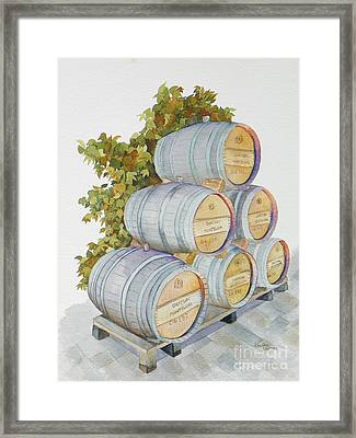 Chateau Montelena Framed Print by Lou Ann Overman