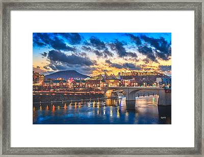 Chattanooga Evening After The Storm Framed Print by Steven Llorca