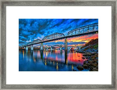 Chattanooga Sunset 3 Framed Print by Steven Llorca