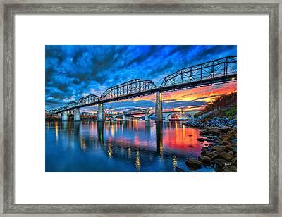 Chattanooga Sunset 3 Framed Print by Steven Llorca
