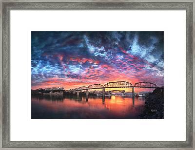 Chattanooga Sunset 4 Framed Print by Steven Llorca