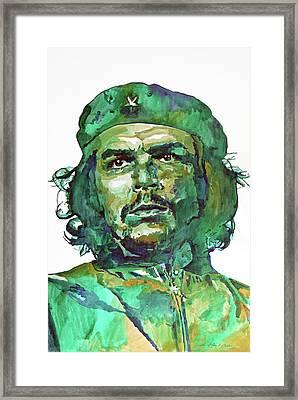 Che Guevara Framed Print by David Lloyd Glover