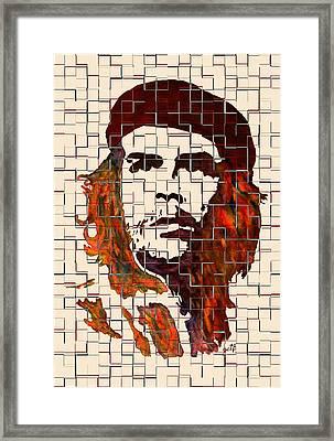 Che Guevara Watercolor Painting Framed Print by Georgeta Blanaru