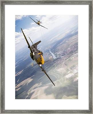 Check Six For Frankie Framed Print by Peter Chilelli