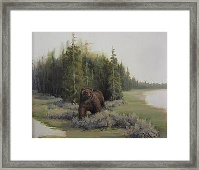 Checkin' His Territory  Framed Print by Mar Evers