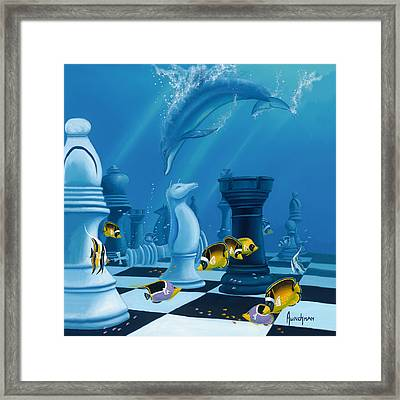 Checkmate Framed Print by Kenneth F Aunchman
