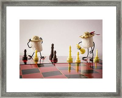 Checkmate Mallow Framed Print by Heather Applegate